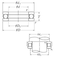 NSK 51326X thrust ball bearings