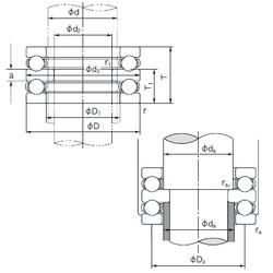 NACHI 52413 thrust ball bearings