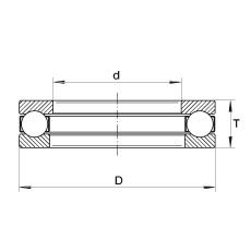 INA XW2-5/8 thrust ball bearings