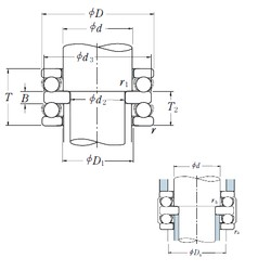 55 mm x 90 mm x 10 mm  NSK 52211 thrust ball bearings