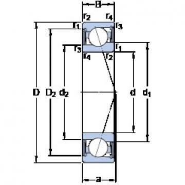 70 mm x 100 mm x 16 mm  SKF S71914 CE/P4A angular contact ball bearings