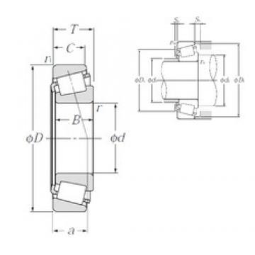120 mm x 180 mm x 38 mm  NTN 32024XU tapered roller bearings