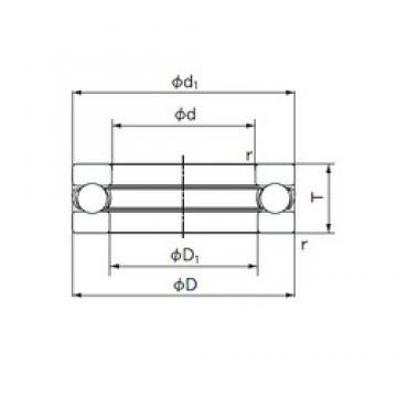 NACHI 51206 thrust ball bearings