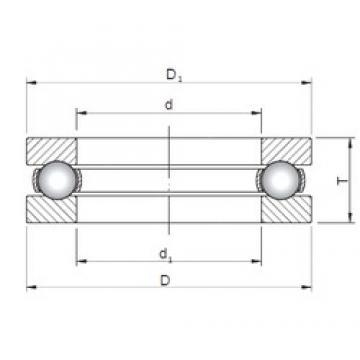 ISO 51210 thrust ball bearings