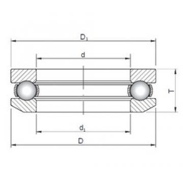 ISO 53215 thrust ball bearings