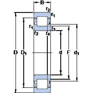 45 mm x 85 mm x 19 mm  SKF NUP 209 ECPH thrust ball bearings