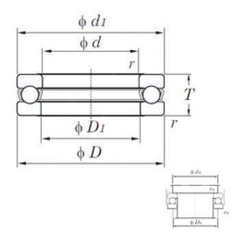 KOYO 51140 thrust ball bearings