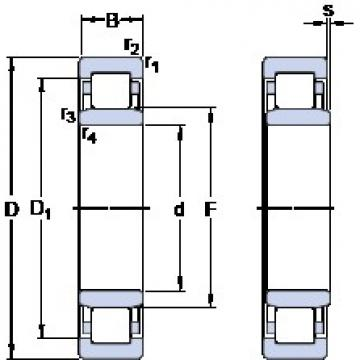 40 mm x 80 mm x 23 mm  SKF NU 2208 ECP thrust ball bearings