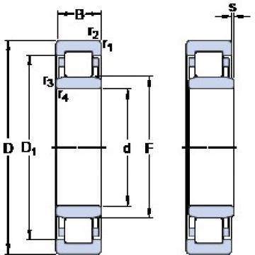 55 mm x 100 mm x 25 mm  SKF NU 2211 ECP thrust ball bearings