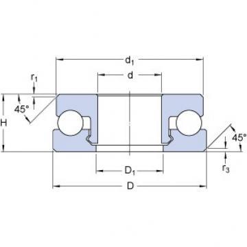 SKF 51109 V/HR22Q2 thrust ball bearings