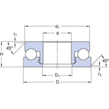 SKF 51206 V/HR11T1 thrust ball bearings