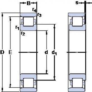 85 mm x 150 mm x 28 mm  SKF N 217 ECM thrust ball bearings