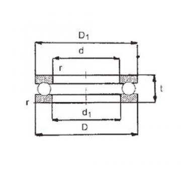 FBJ 51108 thrust ball bearings