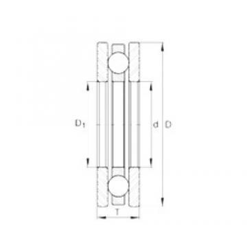 INA 4455 thrust ball bearings
