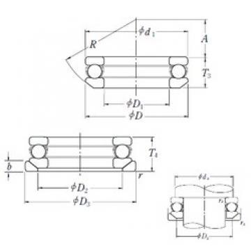 NSK 53216U thrust ball bearings