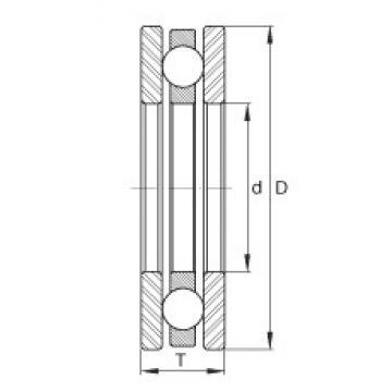 INA FTO16 thrust ball bearings