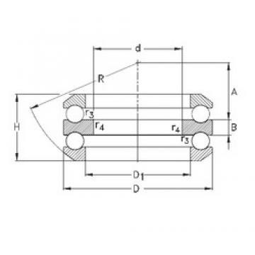 80 mm x 210 mm x 33 mm  NKE 54420-MP thrust ball bearings
