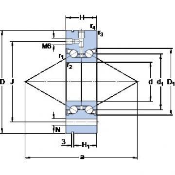 SKF BEAM 030080-2RZ thrust ball bearings