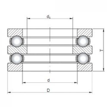 ISO 52211 thrust ball bearings