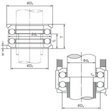 NACHI 54218U thrust ball bearings