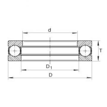 INA 3912 thrust ball bearings