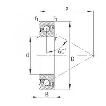 12 mm x 32 mm x 10 mm  FAG 7602012-2RS-TVP thrust ball bearings