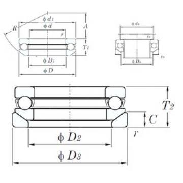 KOYO 53415U thrust ball bearings