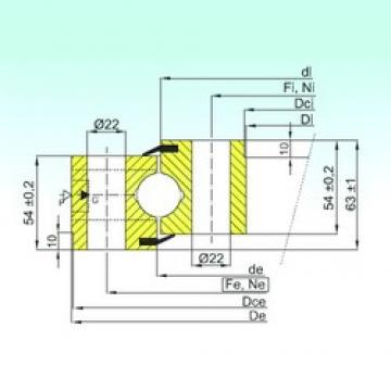 ISB NB1.25.1355.201-2PPN thrust ball bearings
