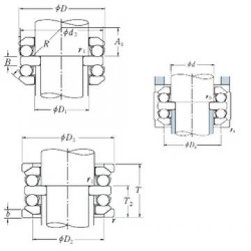 60 mm x 110 mm x 15 mm  NSK 54312U thrust ball bearings