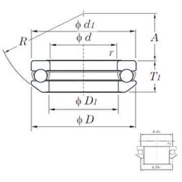 KOYO 53218 thrust ball bearings