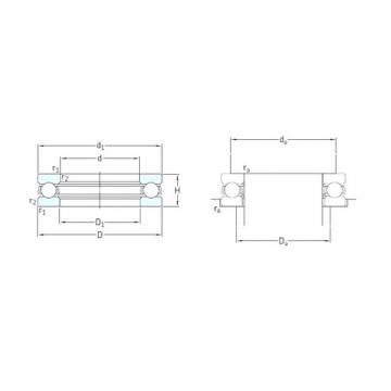 SKF 51100 thrust ball bearings