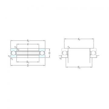 SKF 51211 thrust ball bearings