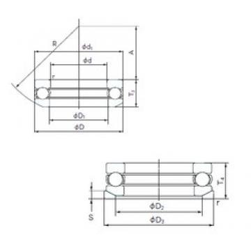 NACHI 53424U thrust ball bearings