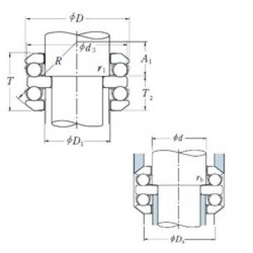 100 mm x 210 mm x 33 mm  NSK 54420X thrust ball bearings