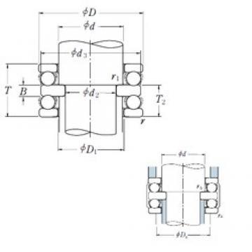 120 mm x 210 mm x 27 mm  NSK 52324X thrust ball bearings