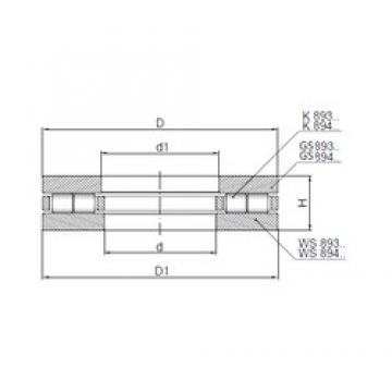 ISO 89444 thrust roller bearings