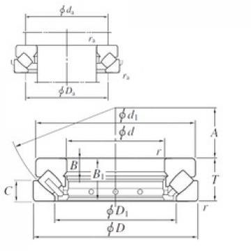 240 mm x 340 mm x 19 mm  KOYO 29248 thrust roller bearings