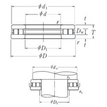 NSK 110TMP93 thrust roller bearings