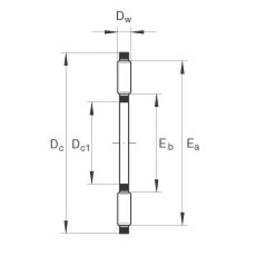 INA TC1018 thrust roller bearings