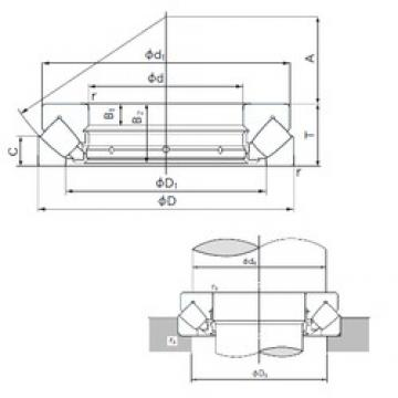 150 mm x 300 mm x 32 mm  NACHI 29430E thrust roller bearings