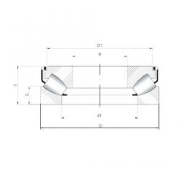 ISO 292/560 M thrust roller bearings