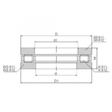 ISO 81214 thrust roller bearings