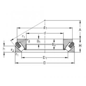 NKE 293/530-M thrust roller bearings