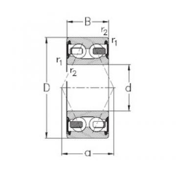 20 mm x 52 mm x 22,2 mm  NKE 3304-B-2RSR-TV angular contact ball bearings