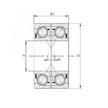 ISO 7309 BDF angular contact ball bearings