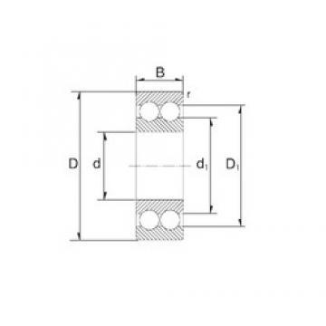 17 mm x 47 mm x 22,2 mm  ZEN S3303 angular contact ball bearings