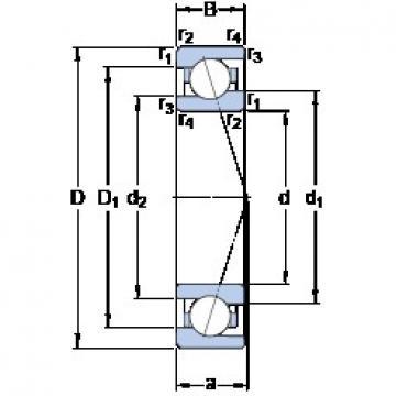 75 mm x 105 mm x 16 mm  SKF 71915 ACE/HCP4A angular contact ball bearings