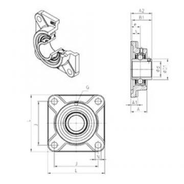 SNR UCF322 bearing units