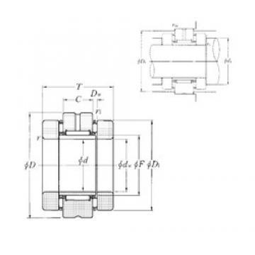 NTN AXN4075 complex bearings