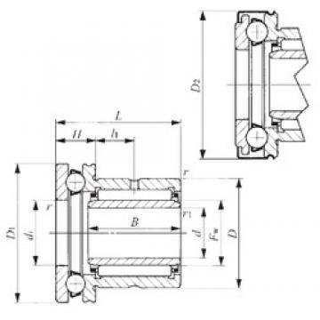 35 mm x 52 mm x 20 mm  IKO NAXI 3532Z complex bearings